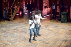 Tootie Uwaifo (left) and Christopher Zaragoza perform. Photo: G. McQueen