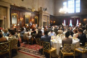 The breakfast was held at the Harvard Club.