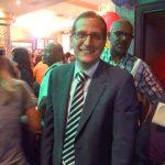 Micah Lasher en la fiesta de Espaillat.