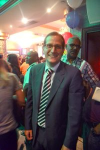 Micah Lasher at the Espaillat party.