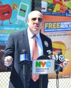 """""""Please come eat with us,"""" said School Support Services CEO Eric Goldstein."""
