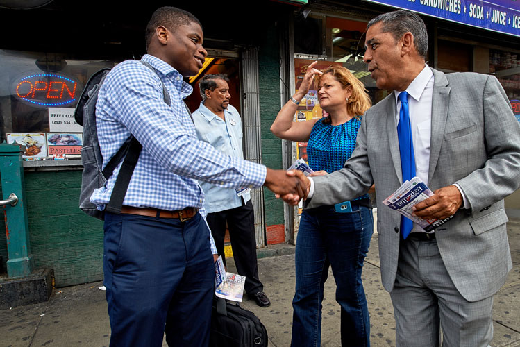 """My campaign has really built a coalition,"" says Espaillat. Photo: C. Vivar"