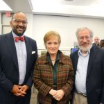 Among those attending were (left to right): Community Board 12 Chair Shah Ally, Isabella Geriatric Center's Director of Marketing and Communications, and Manhattan Parks Department Chief of Staff Steve Simon.