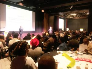 The day-long conference was held in Harlem.