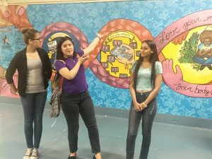 """""""Being a part of this meant a lot to me,"""" said Nathaly (center)."""