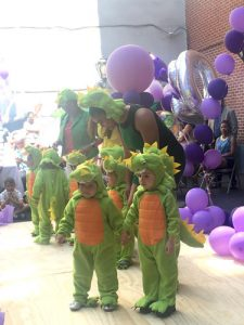The dinosaurs came marching in.