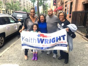 Wright volunteers set out in the afternoon on Primary Day.
