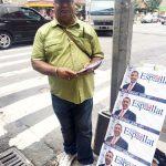 Julio Brito haciendo campaña en favor de Espaillat.