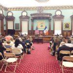 The hearing at City Hall.