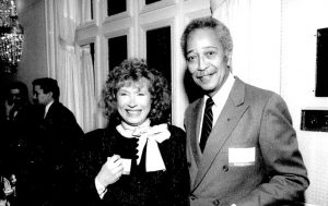 MCNY Founder Audrey Cohen (right) with then-Mayor David Dinkins. Photo: mcny.edu