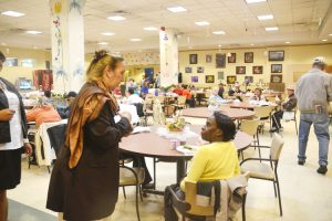 Borough President Gale Brewer met with seniors to spread the word.