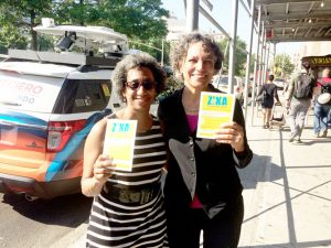Deputy Mayor Herminia Palacio (left) and Health Commissioner Dr. Mary Bassett took part in the Day of Action.