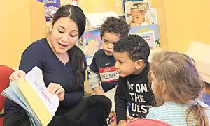 There are different pay scales for the city's preschool teachers.