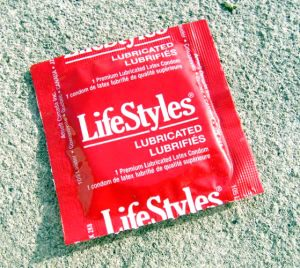 Free condoms are readily available.