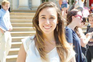 """""""Estoy orgullosa de que sea mi ciudad la que está haciendo esto"""", dijo Amanda Matos."""