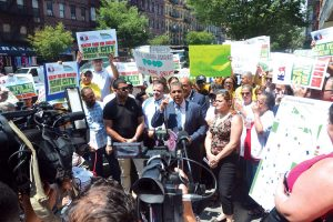 Community leaders, residents and elected officials gathered to protest the closure.