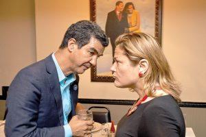 Councilmember Ydanis Rodríguez (left) huddles with Council Speaker Melissa Mark-Viverito. Photo: C. Vivar