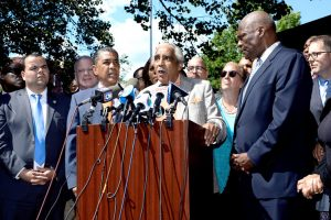 Rangel called for unity in the district. Photo: C. Vivar