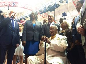Community leaders gathered to honor Dinkins.
