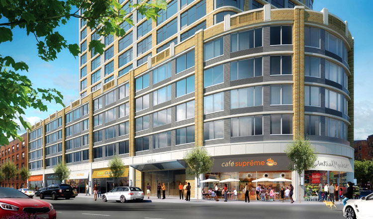 The project would include commercial and retail tenants.