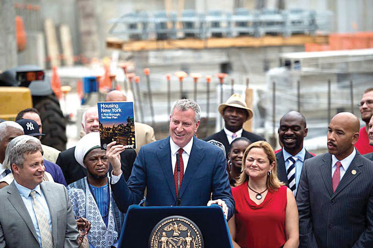 The project would be the first under the mayor's MIH plans. Photo: William Alatriste | New York City Council