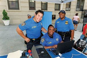 NYPD officers provided children photo identification cards.