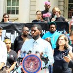 The lead bill was introduced by Councilmember Jumaane Williams (center).