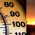 The temperature rose to above 90 degrees.