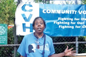 """""""[We'd like to keep] this land for the good of the community,"""" said Amelia Barnes."""