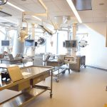 A clinical gross anatomy lab.