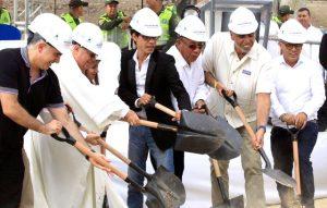 Groundbreaking in Barranquilla, Colombia.