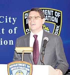 Department of Investigations (DOI) Commissioner Mark Peters.