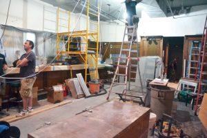 Renovations are underway.