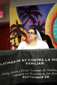 """Domestic violence has no place in our homes,"" said Diana Ayala."