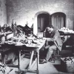 Solomon Schechter at work in the old University Library Photo: Reproduced by permission of the Syndics of Cambridge University Library