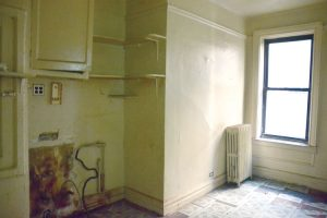 One of the vacant apartments.