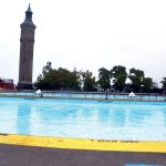 The rink was to be placed on top of Highbridge's swimming pool.
