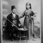 This 1900 photo depicts a Sephardi Jewish couple from Sarajevo in traditional clothing.