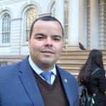 """""""We're calling on President Obama to take his actions further,"""" said State Assemblymember Marcos Crespo."""