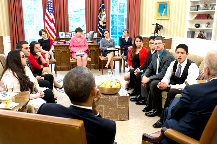 DACA students met at the White House.