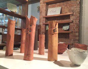 Ceramic works by Risa Ehrlich.