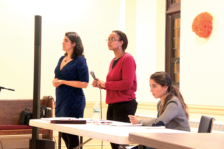 From left: Fernández, Yvonne Floyd-Mayers, Senior Staff Attorney at the Legal Aid Society; and Elmaleh-Sachs.