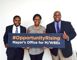 Deputy Mayor Richard Buery (far right) was named as the city's new MWBE director.