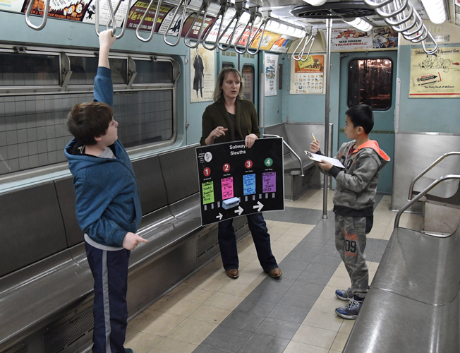 The program for autistic children is based at Brooklyn's New York Transit Museum.