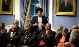 A meeting with city clergy members was held on November 14th amid rising reports of hate crimes.