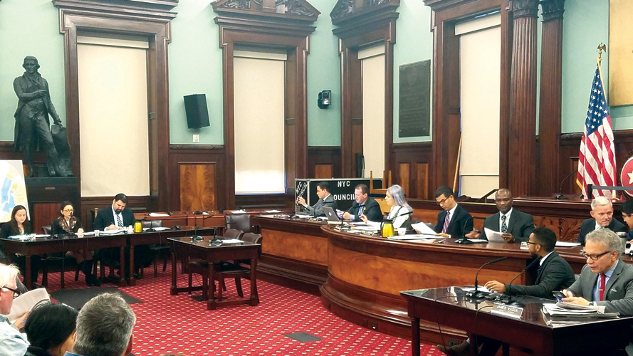 The hearing was held at the City Council.