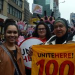 Members of UniteHereLocal100in the march. Photo: UniteHere