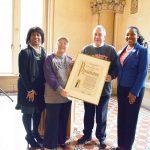 Councilmember Daniel Dromm presented the City Council proclamation.