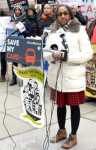 """Healthcare isn't a privilege of the few,"" said Deputy Mayor Herminia Palacio."