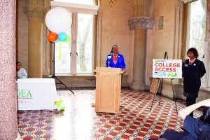 """You can follow your dreams and go onto college,"" said DOE Superintendent LaShawn Robinson."